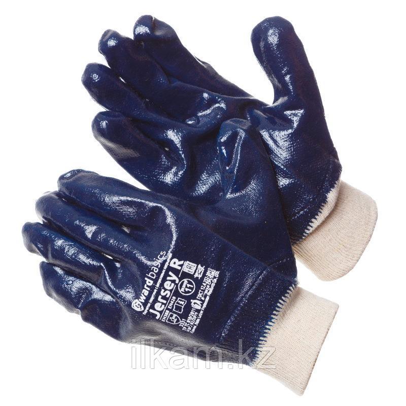 Перчатки трикотажные с нитриловым покрытием манжет резинка Gward Jersey R