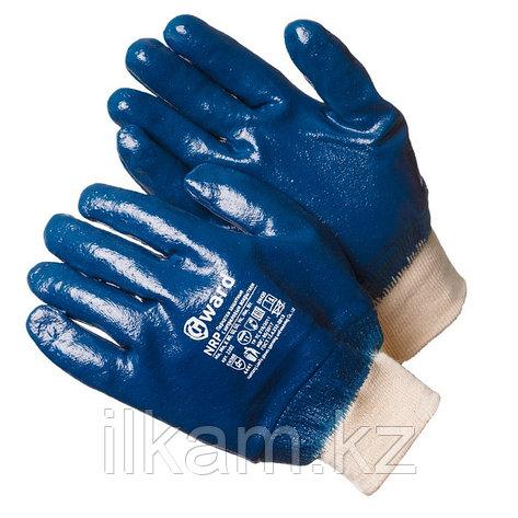 Перчатки маслобензостойкие нитриловые с манжетом-резинка, Gward NRP, фото 2