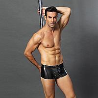 Эротические мужские лаковые трусы со шнуровкой S/M