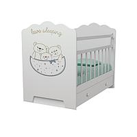 Детская Кровать Love Sleeping ВДК с маятником, с ящиком Белый