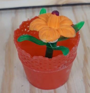 Цветок увеличивается в воде