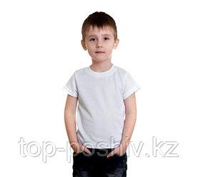"Футболка детская, для сублимации Прима-Cool and Dry""Fashion kid"" цвет: белый, размер: 24(98)"