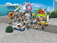 LEGO City 60233 Открытие магазина по продаже пончиков, конструктор ЛЕГО