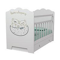 Детская Кровать Love Sleeping ВДК с маятником с ящиком Белый