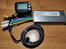 Контроллер  36/ 48/ 60 v   500w, дисплей LCD S5 с курком газа. Размер 120 х 50 х 30 мм
