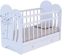 Детская Кровать ВДК Wind Tree поперечный маятник+ящик белый, фото 1