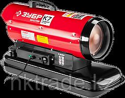 Пушка дизельная тепловая, ЗУБР ДП-К7-15000, 220 В, 15 кВт, 300 м.куб/час, 18.5 л, 1.3 кг/ч, Зубр