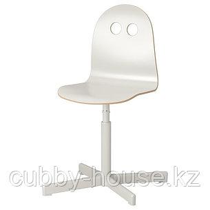 ВАЛЬФРЕД/СИББЕН  Детский стул д/письменного стола, белый, фото 2