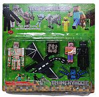 Упаковка повреждена!!! 10225 Майнкрафт герой на картонке 33*32см