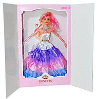Упаковка повреждена!!! 186-7 Кукла подарочная упаковка в пышном платье суставы гнуться 33*22см
