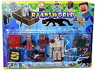 Немного помят!!! J-13 Майнкрафт Raynsworld герои и фигурки на картонке 35*26см