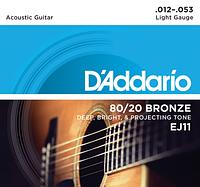 Струны для акустической гитары D'Addario EJ11