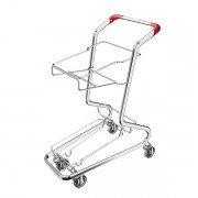 Тележка покупательская SHOLS серия FLEX для трех корзин