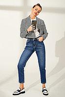 Зауженные джинсы из 100% хлопка с декоративными потертостями TOPTOP