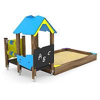 Песочница с домиком