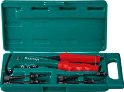 Заклепочник резьбовой и вытяжной KRAFTOOL Combo 2  резьбовые М3-М6, вытяжные 2.4-4.8 мм (31180), фото 3