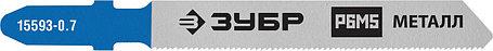 Полотна для эл/лобзика ЗУБР HSS, по металлу, EU-хвост., шаг 0.8 мм, 50 мм, 2 шт. (15593-0.7_z02), фото 2