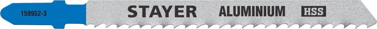 Полотна для эл/лобзика STAYER HSS, по мягкому металлу (2-15 мм), EU-хвост.шаг 3 мм, 75 мм,2 шт.(159952-3_z02)