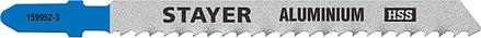 Полотна для эл/лобзика STAYER HSS, по мягкому металлу (2-15 мм), EU-хвост.шаг 3 мм, 75 мм,2 шт.(159952-3_z02), фото 2