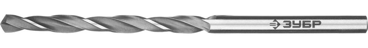 """Сверло по металлу ЗУБР Ø 3.7 x 70 мм, класс В, Р6М5, серия """"Профессионал"""" (29621-3.7)"""