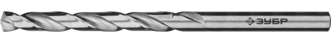 """Сверло по металлу ЗУБР Ø 4.8 x 86 мм, класс А, Р6М5, серия """"Профессионал"""" (29625-4.8)"""