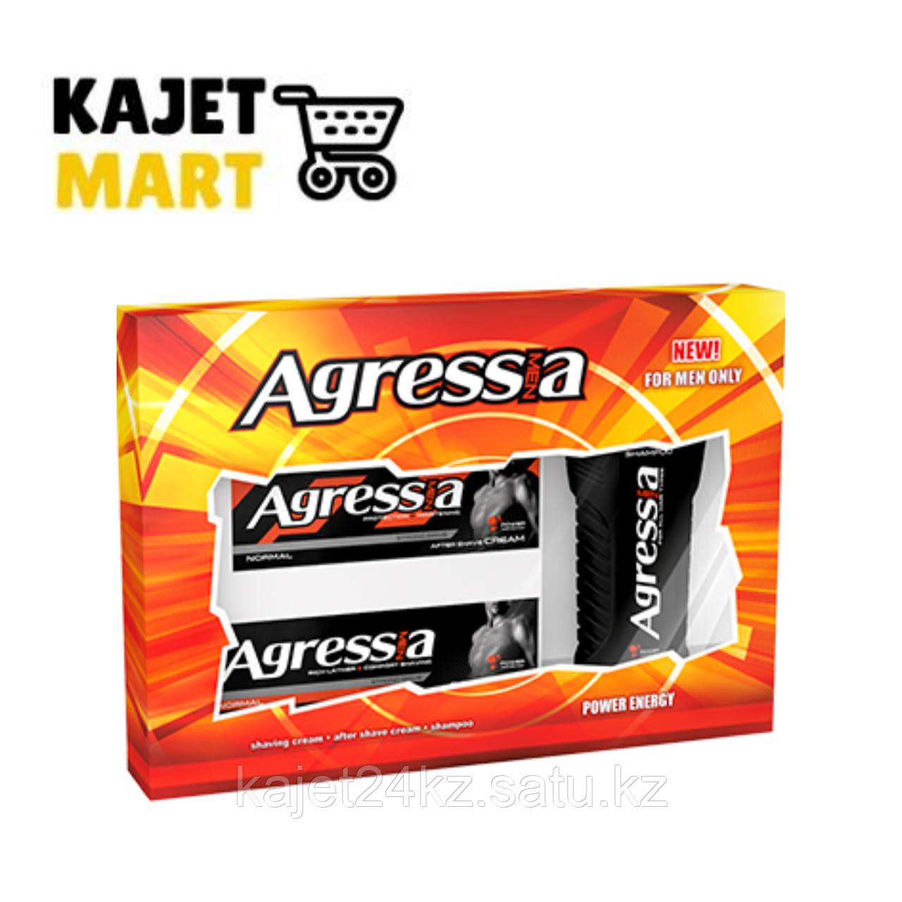 Agressia NORMAL Подарочный набор  (шампунь  + крем для бритья + крем после бритья)