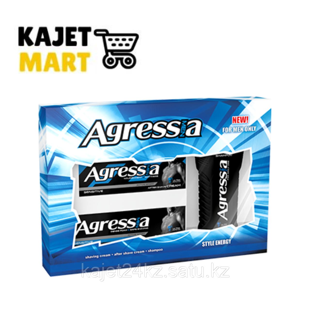 Agressia SENSITIVE Подарочный набор  (шампунь  + крем для бритья + крем после бритья)