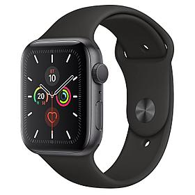 Apple Watch Series 5 44mm Space Gray Aluminum Case with Black Sport Band