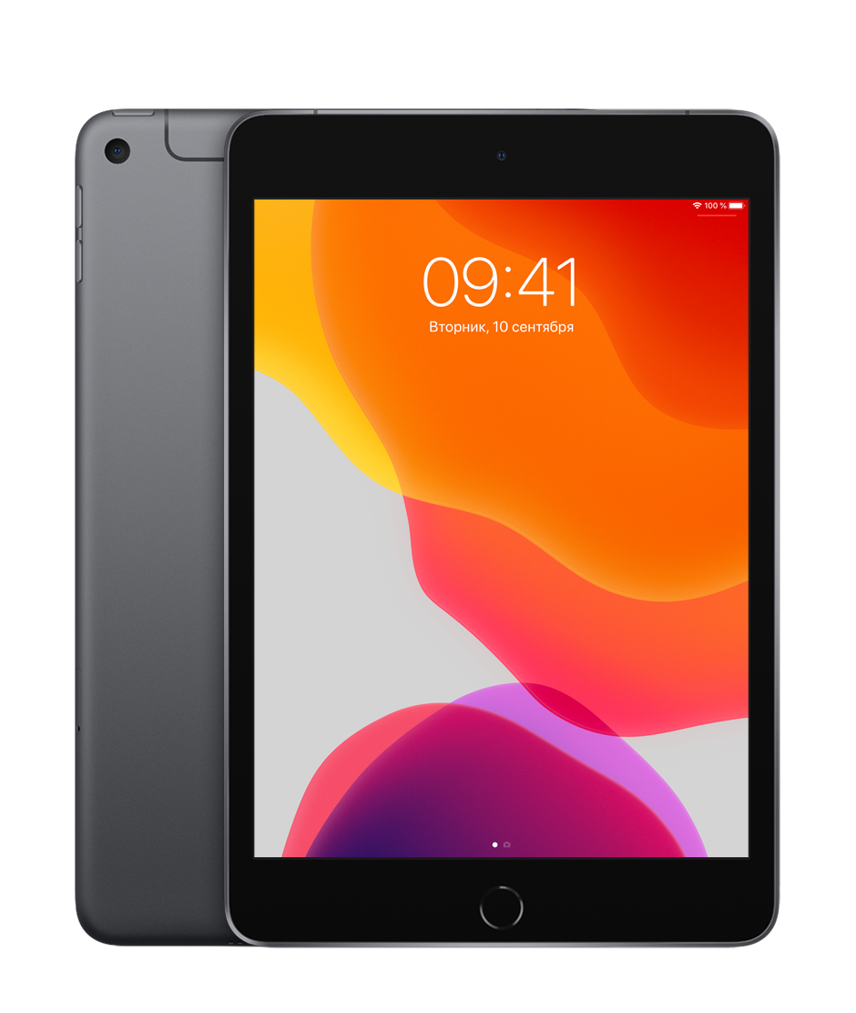 Планшет Apple iPad mini (5th generation) Wi-Fi + Cellular (LTE) 64Gb Space Gray