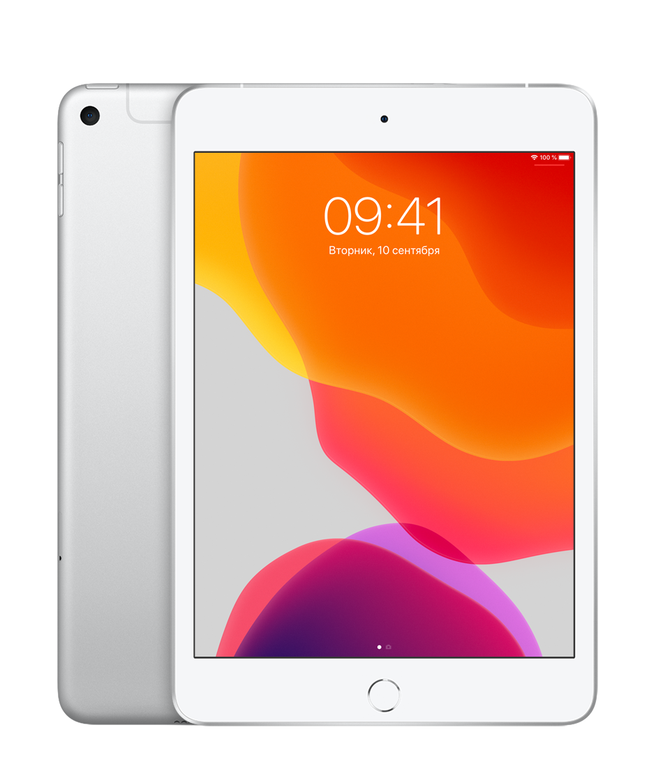 Планшет Apple iPad mini (5th generation) Wi-Fi + Cellular (LTE) 64Gb Silver