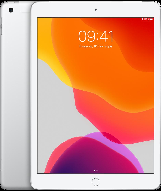 Планшет Apple iPad 10.2″ (7th generation) Wi-Fi + Cellular (LTE) 32Gb Silver