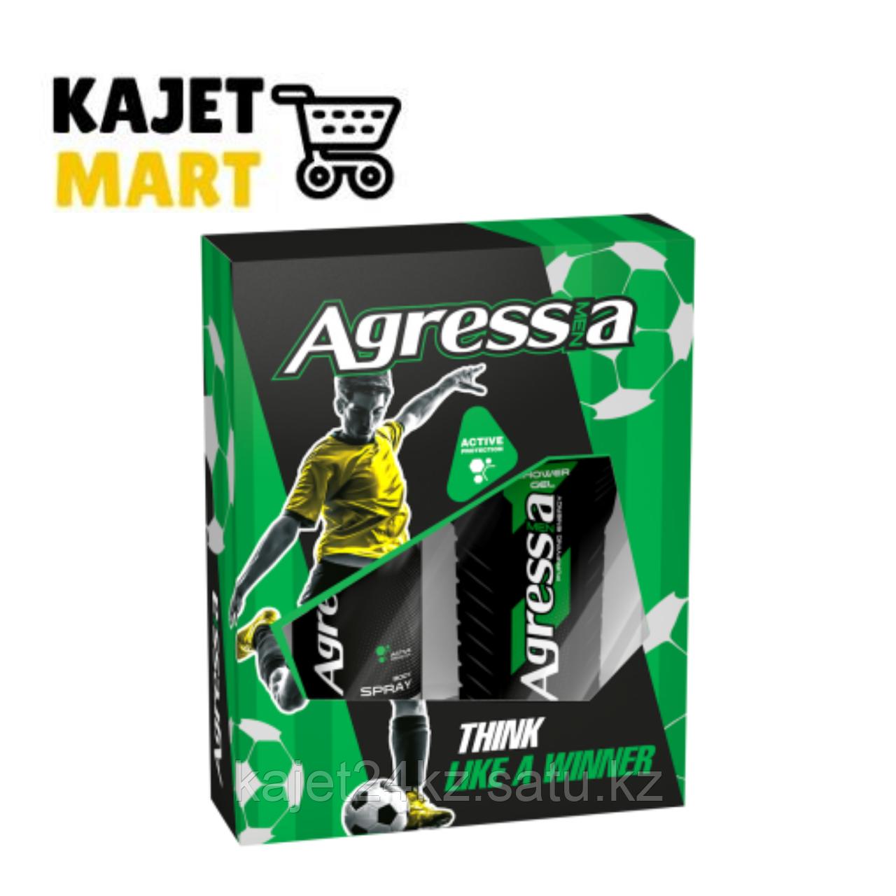 Agressia FRESH Подарочный набор  (гель для душа  + дезодорант)