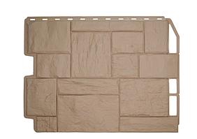 Фасадные панели Бежевый 795х595 мм Дачный Туф FINEBER