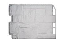 Фасадные панели Белый 795х595 мм Дачный Туф FINEBER, фото 1