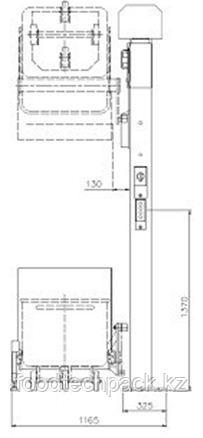 Колонный подъёмник-загрузчик 200 л. тележек, 31.0319.22