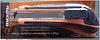 Нож с выдвижным лезвием 18 мм, двухкомпонентный корпус, металлическая направляющая,  автоматический фиксатор, Вихрь