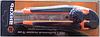 Нож с выдвижным лезвием 18 мм, двухкомпонентный корпус, металлическая направляющая,  винтовой фиксатор, Вихрь