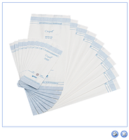 "Пакеты бумажные со складкой термосвариваемые ""СтериТ®"", (упак 100 шт), размеры:70х40х200 мм до 300х75х560 мм"