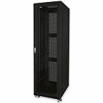 """Шкаф стандартный сетевой 19"""" 42U 800х1000х2055, цвет черный, дверь стекло"""