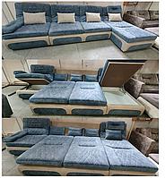 Модульный раскладной диван со съемным чехлом для стирки