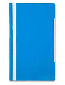 Папка-скоросшиватель, А4, 160/180 мкм, голубая