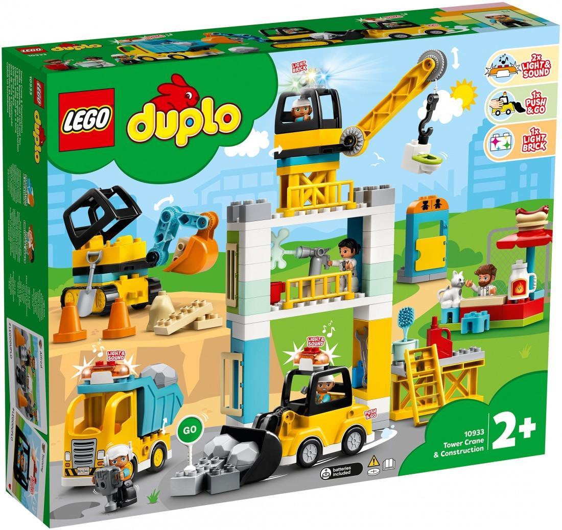 10933 Lego Duplo Башенный кран на стройке, Лего Дупло (уценка -50%)