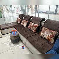 Угловой диван с раздвижными механизмами