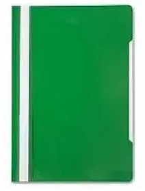 Папка-скоросшиватель, А4, 160/180 мкм, зеленая
