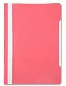 Папка-скоросшиватель, А4, 160/180 мкм, розовая