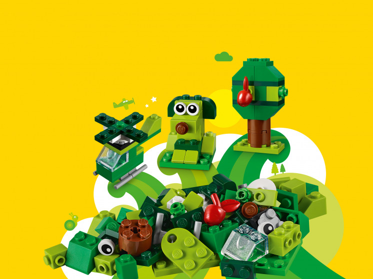LEGO Classic 11007 Зеленый набор для конструирования, конструктор ЛЕГО - фото 1