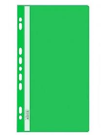 Папка-скоросшиватель  с перфорацией, А4, 160/180 мкм, зеленая
