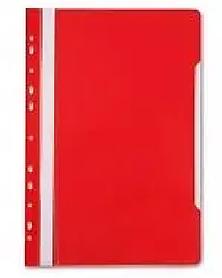 Папка-скоросшиватель  с перфорацией, А4, 160/180 мкм, красная