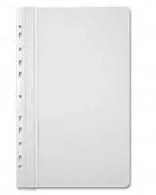 Папка-скоросшиватель  с перфорацией, А4, 160/180 мкм, белая