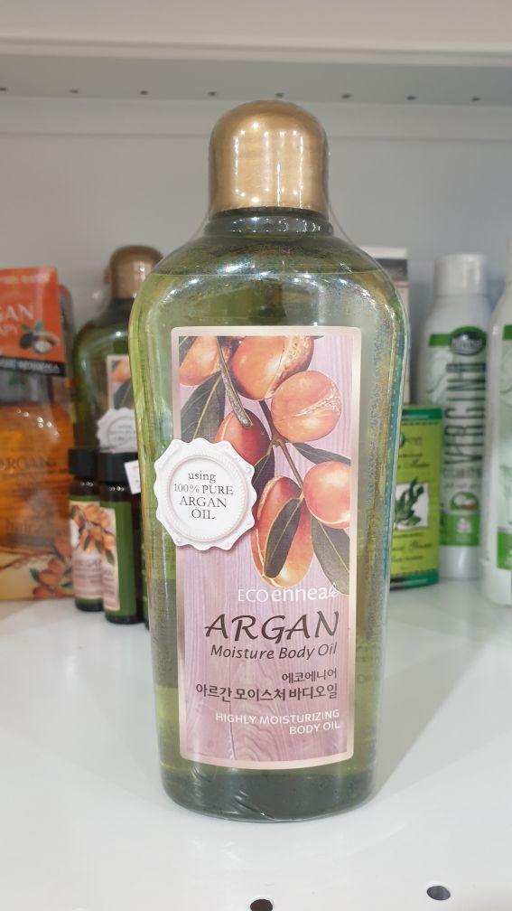 Увлажняющее масло для тела  Welcos  ECO ennea Argan Moisture Body Oil 200g.